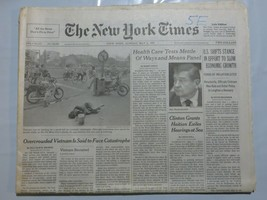 The New York Times 1994 May 8 Vietnam Catastrophe Clinton Economic Growt... - $39.99