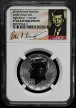 2018S LIGHT FINISH PF69 Reverse SILVER Kennedy Half Proof Coin F.R. SKU C64 - $51.38