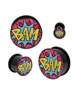 "PAIR-Comics BAM Acrylic Single Flare Ear Plugs 20mm/13/16"" Gauge Body Je... - $9.99"