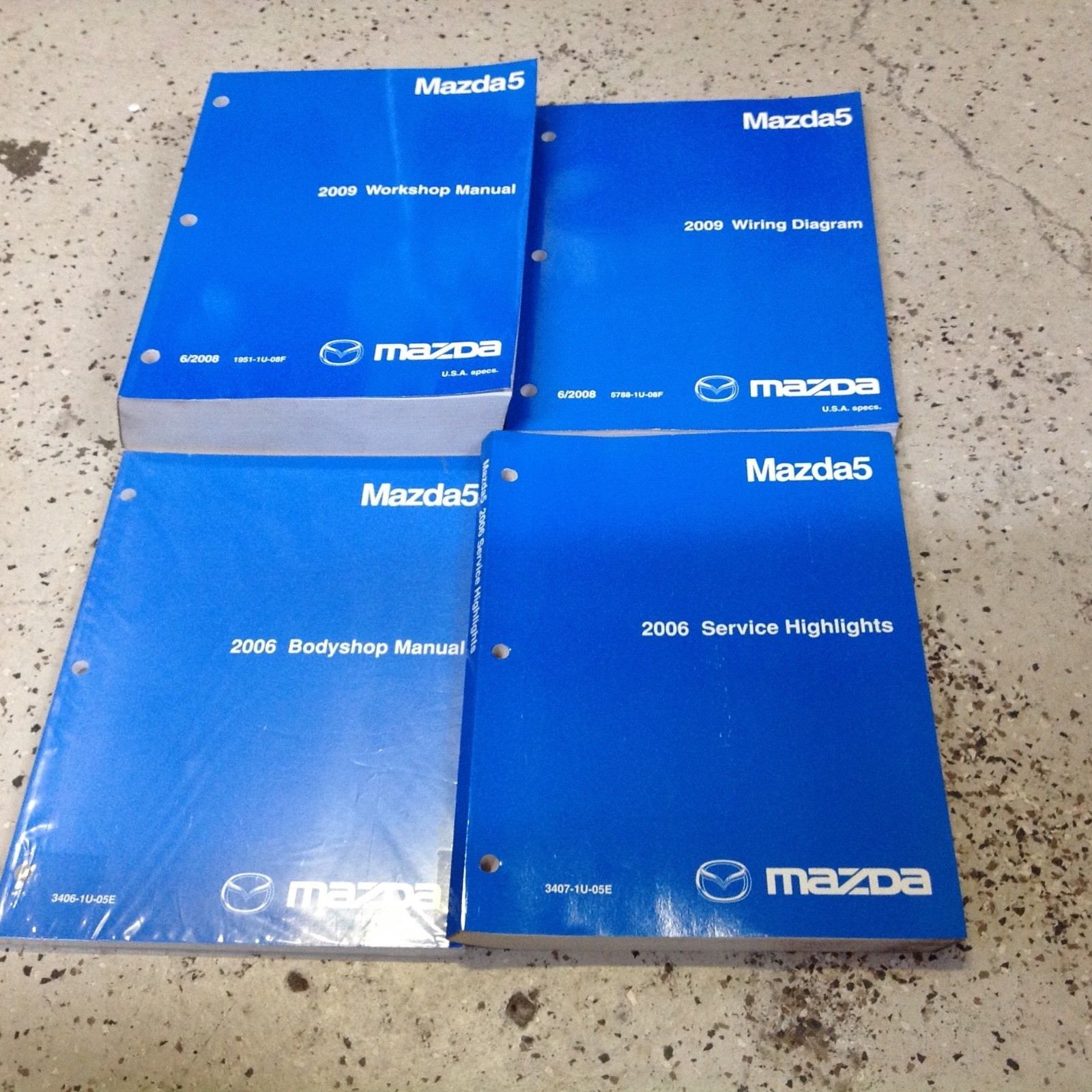 Primary image for 2009 Mazda5 MAZDA 5 Service Repair Shop Manual Set W EWD Body Highlights OEM