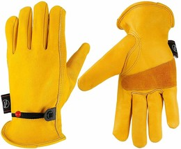 Cowhide Work Gloves Leather Safety Gloves FOR Garden/Motorcycle/Driver G... - $7.99