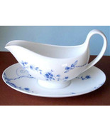 Wedgwood Harmony Gravy Boat & Underplate Made in England New - $145.90
