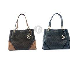 Michael Kors Nicole Large Signature Shoulder Tote Handbag - $142.99