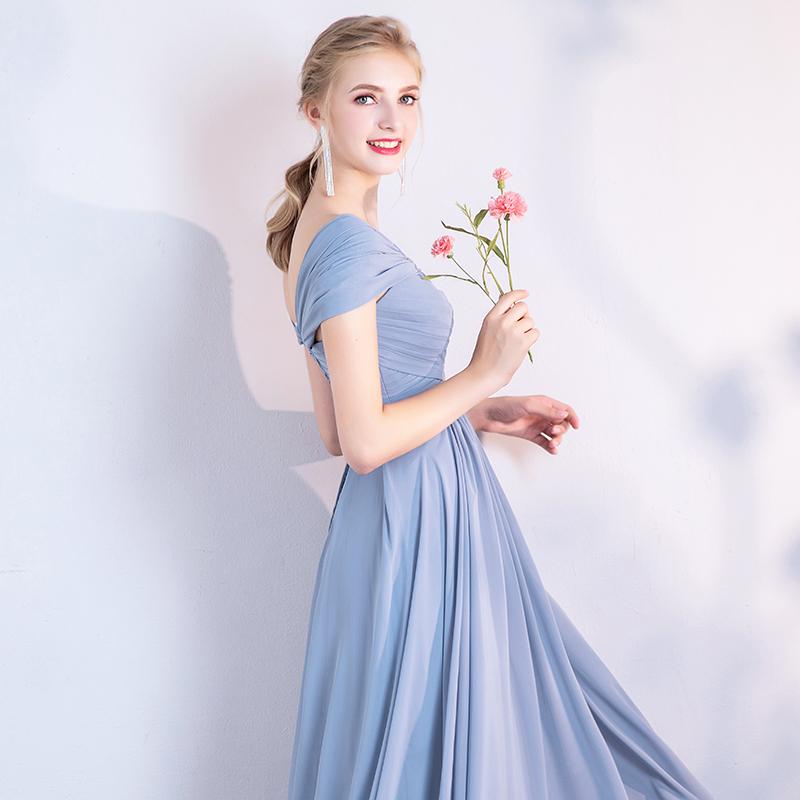 Dusty blue bridesmaid dress 4