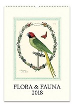 Cavallini Papers 2018 Flora & Fauna Wall Calendar - $14.78