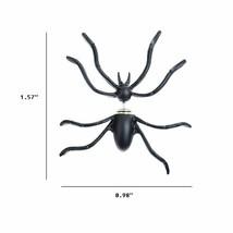 Women Halloween Black Spider Charm Ear Stud Earrings - One Pair image 2
