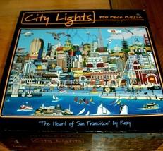 Jigsaw Puzzle 750 Pcs San Francisco Fishermans Wharf Comic Roxy Art Pcs Missing - $13.85