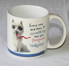 Dog Mug Big Eyes Long Tongue Humor Get Tongues Wagging American Greetings - $10.84