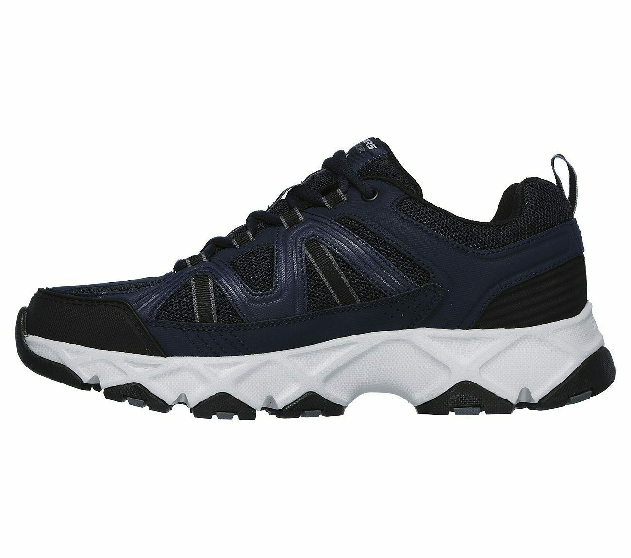 Skechers Navy Black Extra Wide Fit Shoe Men Memory Foam Sport Comfort Soft 51885 image 3