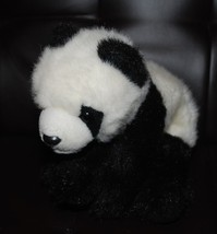 "Ty Beanie Buddies Panda Bear Bean Bag Plush Stuffed Animal 12"" Toy Black... - $24.70"