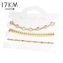17KM® 3 pcs/set Bijoux Crystal Beads Wedding Bracelets Set Pulseras Muje... - $5.07