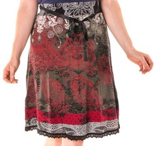 Beautiful Desigual Romin Black and Red Skirt Size L - €48,34 EUR