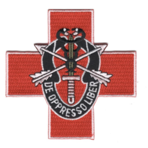 """3.5"""" ARMY SPECIAL FORCES GROUP RED CROSS PATCH DE OPPRESSO EMBROIDERED P... - $17.14"""