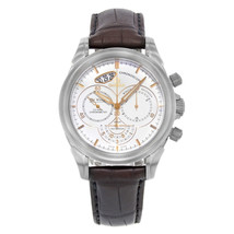 Omega DeVille White Dial Chronograph Leather Steel Men Watch 422.13.41.5... - $5,499.06