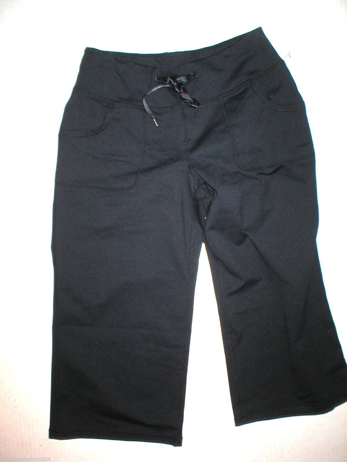 Women New Zella Nordstrom Pants Gym 0 Black Crop Capri Soul 2 Barre Yoga Pilate