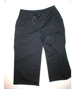 Women New Zella Nordstrom Pants Gym 0 Black Crop Capri Soul 2 Barre Yoga... - $24.00