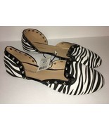 Chatties Zebra Black/White Studded Fashion Ladies Flats Size9/10-SHIP N 24 HOURS - $22.39