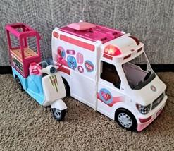 2017 Barbie Ambulance Hospital 2 In 1 & Bistro Cart Bike Girl New FRM19 FHR08 - $59.99