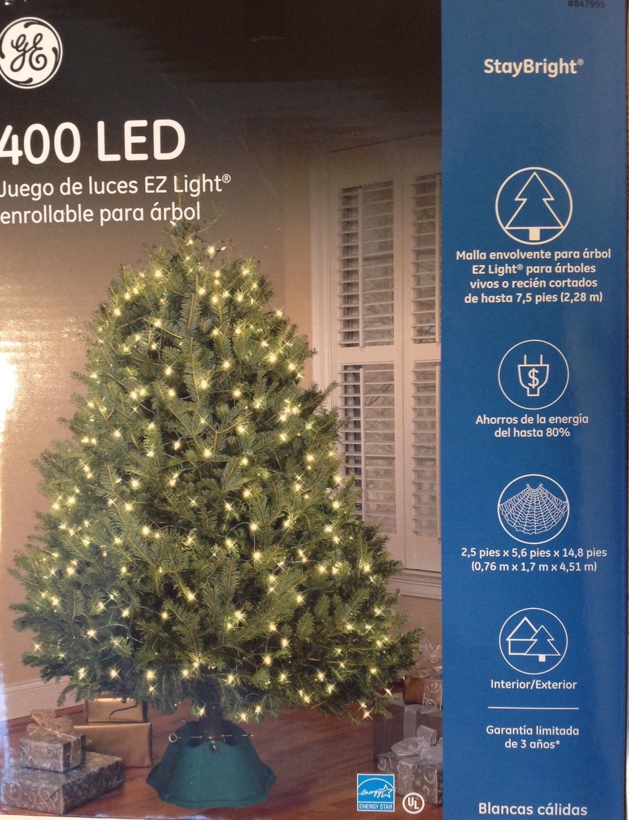 christmas 400 led clear white tree wrap lights indooroutdoor ge
