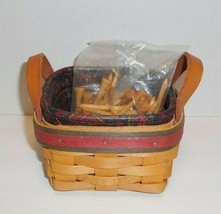 Longaberger 1999 Father's Day Tee Basket Set Liner Protector and Golf Tees - $26.72
