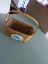 1996 Edition Longaberger Swing Handle Dresden Tour Basket w/ Plastic Liner - $9.15