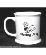 White Ceramic Military Style Shaving Mug with Shaving Logo - $12.95
