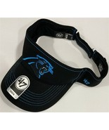 NFL Carolina Panthers Visor Adjustable - Black New Embroidered logo Golf - $18.76