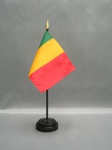 "MALI 4X6"" TABLE TOP FLAG W/ BASE NEW DESK TOP HANDHELD STICK FLAG - $4.95"