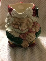 Vintage Fitz and Floyd Christmas Old World Christmas Elf 1989 Pitcher - $21.73