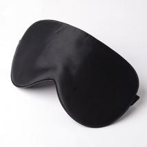Sleep Mask Silk Blindfold Eye Natural Black Cover Travel Shade Relax Pad... - $10.21 CAD