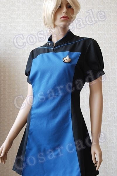 7b7b712ce21b S l1600. S l1600. Previous. Star Trek TNG Halloween Uniform Cosplay Costume  Outfit Ball Gown Party Dress