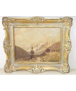 Antique Unknown Artist Signed Textured Dutch Landscape Oil Painting on B... - $1,900.00