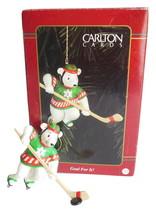 Carlton Cards Hockey Christmas Ornament Goal For It Polar Bear Playing Ice Sport - $14.95