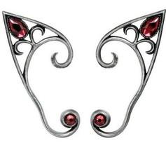 Alchemy Gothic Elvyn Elf Ear Wrap Earring Single or Pair / Black or Silver E446 - $26.95+