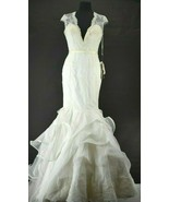 Winnie Couture Size 8 Style# 3204 Corseted Wedding Dress W/ Train White - $400.00
