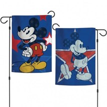 "Mickey Mouse / Disney Mickey Americana Garden Flags 2 sided 12.5"" x 18"" - $10.95"