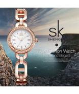 SK® Watches New Women Fashion Wrist Watch Diamond Golden Bracelet Watche... - $26.48