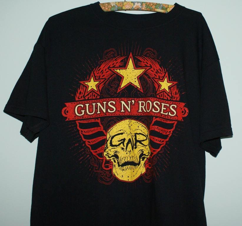 Guns N Roses T-shirt GNR tee Slash Skull Unisex Tee