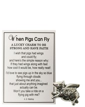 When Pigs Can Fly Charm With Story Card! - $10.98