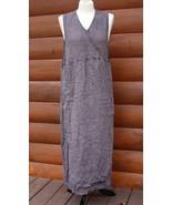 Flax Jeanne Engelhart M BasketWeave Faux Wrap Linen Sleeveless Maxi Dress Jumper - $68.40
