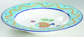 "Studio Nova Fashion ""Ocean Collage"" CA059 Dinner Rim Soup Bowl 8 3/4"" - $12.99"