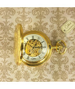 Colibri pocket watch see thru hand winding mechanical  Gold Plated - $275.00