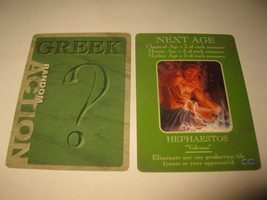 2003 Age of Mythology Board Game Piece: Greek Random Card - Next Age- Hephaestos - $1.00