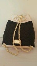NWT Big Buddha Blk/Cream Gold Tone Chains Ladies Backpack BBO09505 image 1