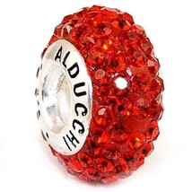 Alducchi Ruby Red Swarovski Crystal 925 Sterling Silver European Charm Bead - $19.81
