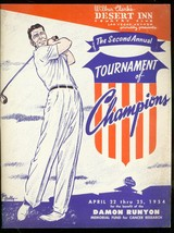 2nd Annual Tournament Of Champions Golf Program April 22 1954 - $181.88