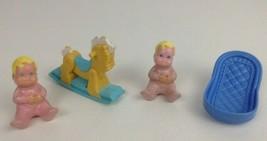 Fisher Price Loving Family Dream Dollhouse Toys 4 Piece Baby Set Vintage... - $22.23
