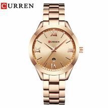 Curren 9007 Gold Watch Women Watches Ladies 9007 Steel Women's Bracelet Watches  - $103.64