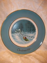 Avon Christmas Plate 1976 Bringing Home The Tree - $5.93