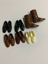 Vintage Barbie Doll Ken Shoes lot of 6 pair Shoes and Boots Japan - $29.03